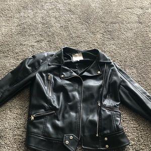 Zara Moto Leather Jacket Size Medium